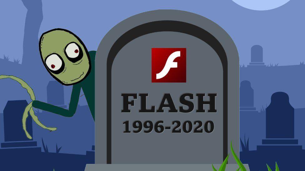 Flash is dead cartoon